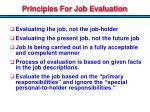 principles for job evaluation