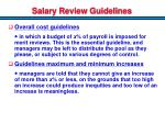 salary review guidelines