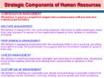 strategic components of human resources