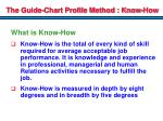 the guide chart profile method know how