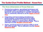 the guide chart profile method know how1