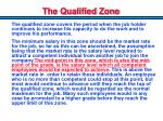 the qualified zone