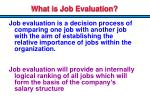 what is job evaluation