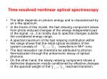 time resolved nonlinear optical spectroscopy6