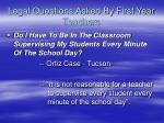 legal questions asked by first year teachers1