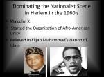 dominating the nationalist scene in harlem in the 1960 s