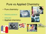pure vs applied chemistry