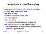 current plans load balancing