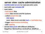 server view cache administration