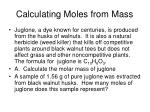 calculating moles from mass