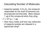 calculating number of molecules