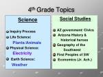 4 th grade topics