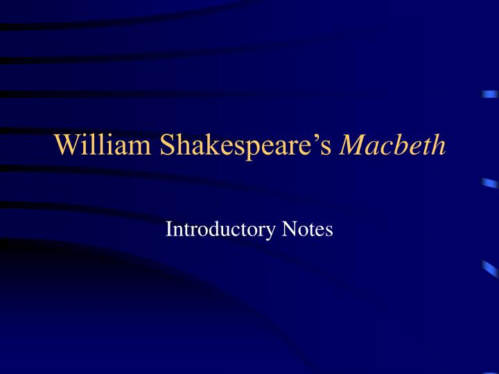 william shakespeare s macbeth n.
