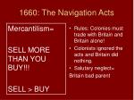 1660 the navigation acts