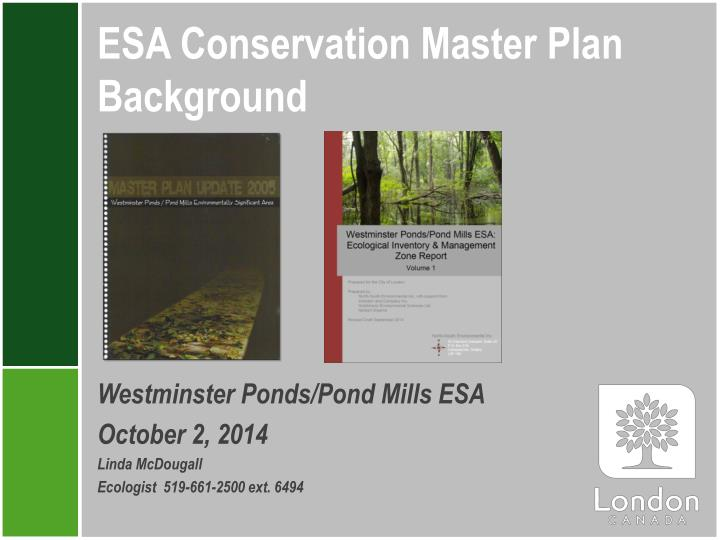 esa conservation master plan background n.