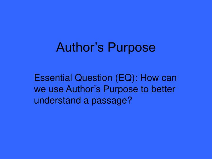 author s purpose n.