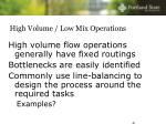 high volume low mix operations