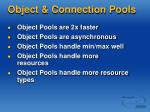 object connection pools