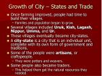 growth of city states and trade