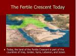 the fertile crescent today