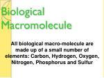 biological macromolecule