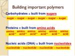 building important polymers