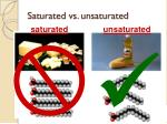 saturated vs unsaturated