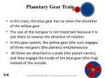 planetary gear train