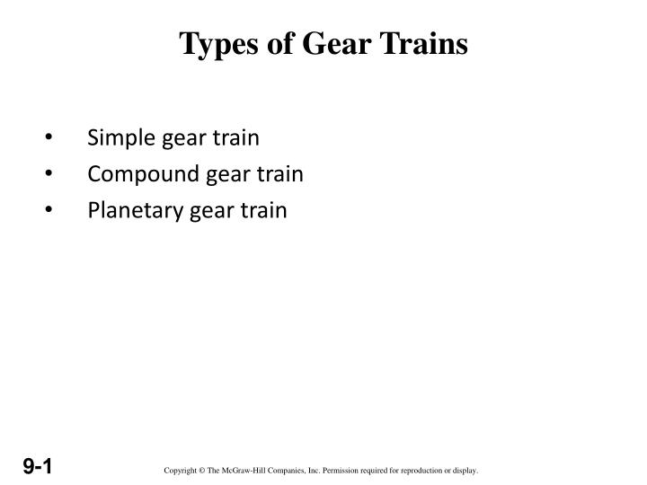 types of gear trains n.
