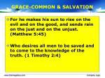 grace common salvation