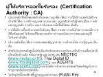 certification authority ca