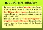 how to play sim