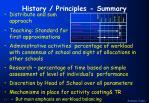 history principles summary