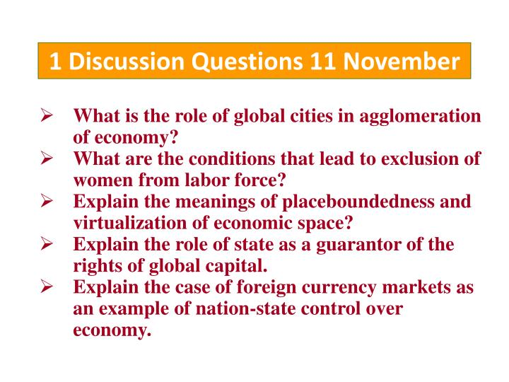 1 discussion questions 11 november n.