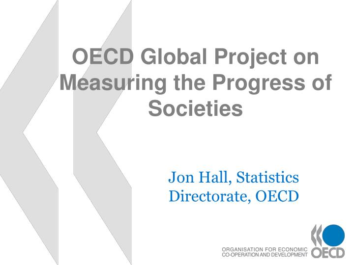 oecd global project on measuring the progress of societies n.