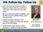 6 follow up follow up