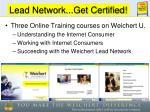lead network get certified