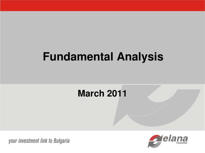 fundamental analysis n.