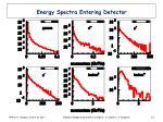 energy spectra entering detector