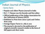 indian journal of physics some facts