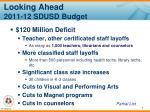 looking ahead 2011 12 sdusd budget