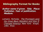 bibliography format for books