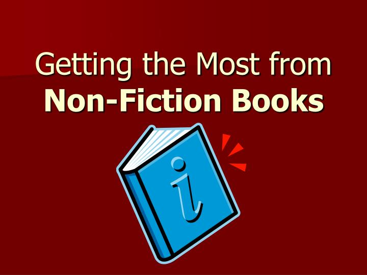 getting the most from non fiction books n.