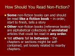 how should you read non fiction