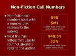 non fiction call numbers