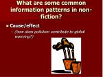 what are some common information patterns in non fiction1