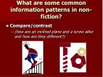 what are some common information patterns in non fiction2
