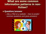 what are some common information patterns in non fiction3