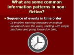 what are some common information patterns in non fiction4