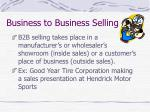 business to business selling